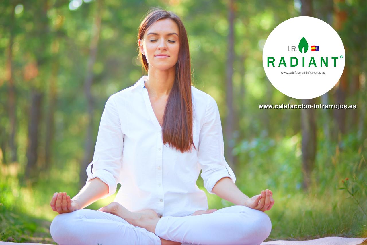 calefaccion por infrarrojos saludable y yoga