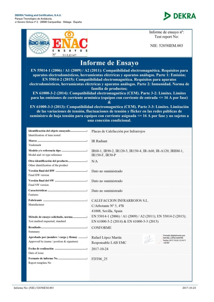Calefaccion-por-infrarrojos-Certificacion-compativilidad-electromagnetica